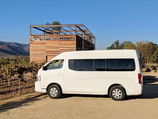 7 passenger van transportation service in Valle de Guadalupe